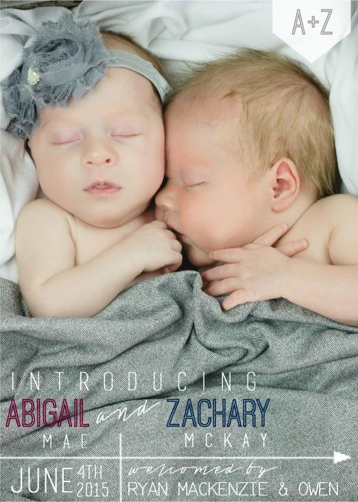 ABBY ZACH BIRTH ANNOUNCEMENT
